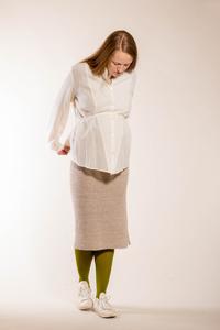 schlichte, weiße Bluse aus reiner Bio-Baumwolle - Natascha von Hirschhausen