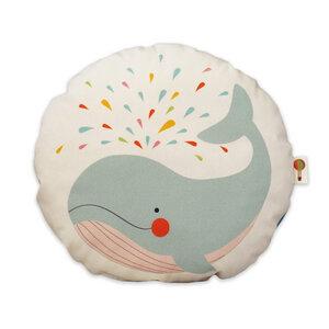 Kleines Kissen Wal aus Bio-Baumwolle - TELL ME