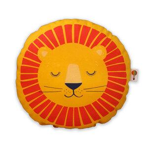 Kleines Kissen Löwe aus Bio-Baumwolle - TELL ME