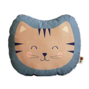 Kleines Kissen Katze aus Bio-Baumwolle - TELL ME