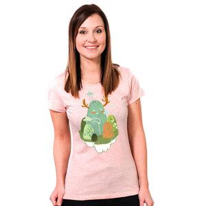 Hide and Seek - Frauenshirt mit Print aus Biobaumwolle - Coromandel