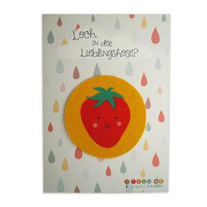 Aufnäher Erdbeere aus Bio-Baumwolle - TELL ME