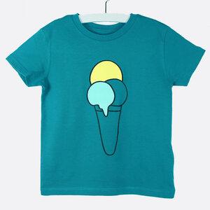 "T-Shirt ""ice cream"" - petrol - Carlique"