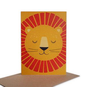 Grußkarte Löwe aus Recyclingpapier - TELL ME