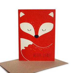Grußkarte Fuchs aus Recyclingpapier - TELL ME