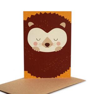 Grußkarte Igel aus Recyclingpapier - TELL ME