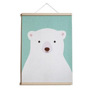 Poster Eisbär aus Recyclingpapier A2 - TELL ME