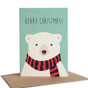 Weihnachtskarte Eisbär aus Recyclingpapier - TELL ME