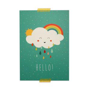 Kleines Poster Wolke aus Recyclingpapier A4 - TELL ME