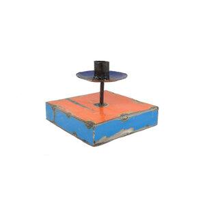 Ölfässer Kerzenständer blau/rot - Africa Design