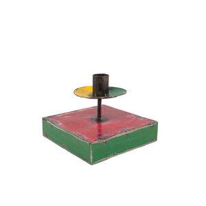 Ölfässer Kerzenständer grün/rot/gelb - Africa Design
