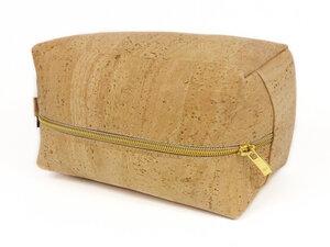 Kosmetiktasche / Kulturbeutel aus Kork (Korkleder) - beige - Simaru