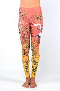 Damen Yoga Leggings Japanese Garden - Magadi