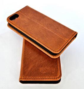 Handy Hülle Echt Natur Leder zertifiziert für I - Phone 5 made in DE - Ecollo