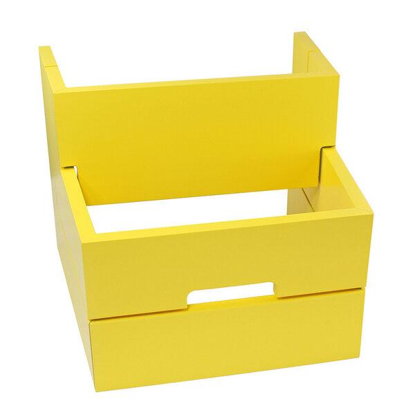 naturehome design holz tritthocker aus massivem buchen holz gelb mit tragegriff avocadostore. Black Bedroom Furniture Sets. Home Design Ideas
