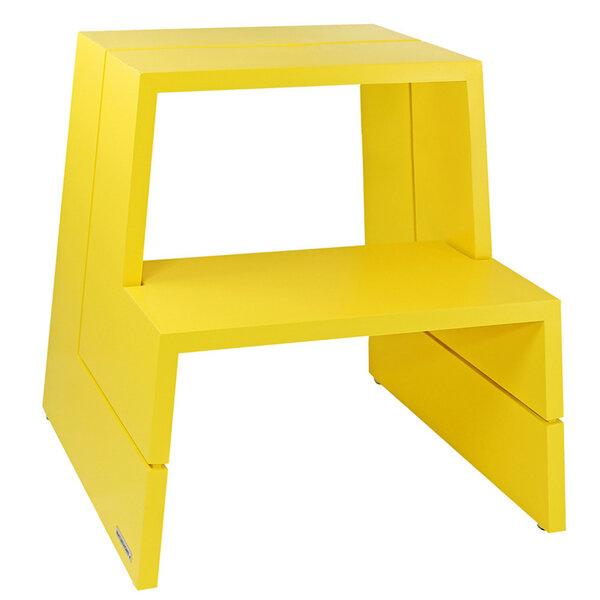 naturehome design holz tritthocker aus massivem buchen holz gelb avocadostore. Black Bedroom Furniture Sets. Home Design Ideas
