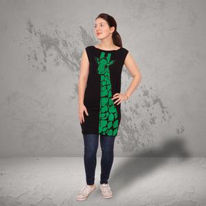 'Stefanie la Girafe' Bio-Kleidchen Schwarz - shop handgedruckt