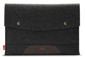 MacBook Air 13' Schutzhülle aus 100% Merino Wollfilz, Leder - Pack & Smooch