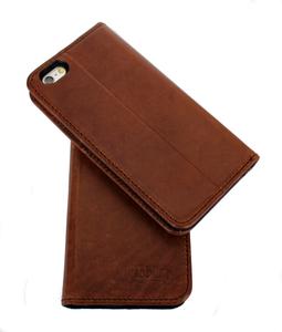 Handy Hülle Echt Natur Leder zertifiziert für I - Phone 6 made in DE - Ecollo