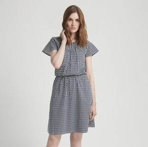 Emma Dress Navy - People Tree