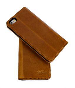 Handy Buchhülle aus Naturleder hergestellt in DE für Iphone 6 PLUS - Ecollo
