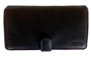 Premium Leder Geldbörse Geldbeutel Naturleder in schwarz für Damen - Ecollo