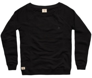 "Bidges&Sons ""Tanker Basic"" Ladies  Sweater Lowcut, black - Bidges&Sons"