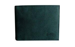 Premium Leder Geldbörse Geldbeutel Naturleder in grün Unisex - Ecollo