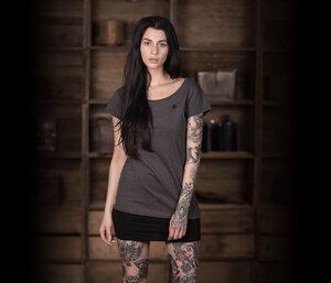 "Bidges&Sons ""Tanker Basic"" Ladies Lowcut T-Shirt , dark heather grey - Bidges&Sons"