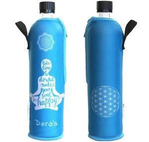 Glasflasche mit Neoprenbezug Happy Yoga 500ml - Dora