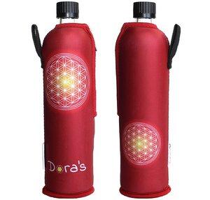 Glasflasche mit Neoprenbezug Blume des Lebens 500ml - Dora