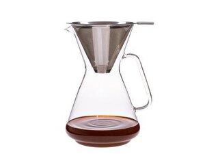 Kaffeebereiter BRASIL I (8 Tassen) mit Permanent Edelstahlfilter - Trendglas Jena