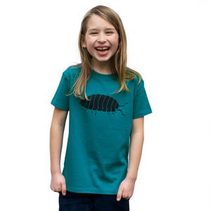 Kinder T-Shirt Greta Assel in ocean depth - Cmig