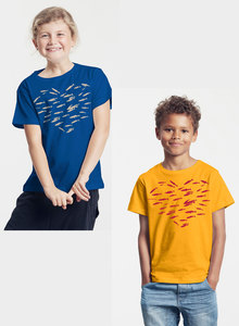 Bio-Kinder T-Shirt 'Fishheart' - Peaces.bio - Neutral® - handbedruckt