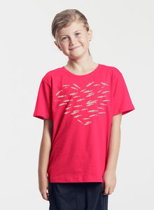"Bio-Kinder T-Shirt ""Fishheart"" - Peaces.bio - Neutral® - handbedruckt"