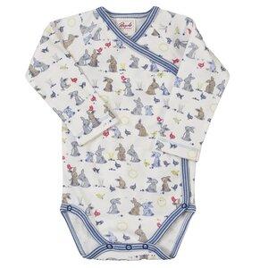 Baby LA Wickelbody Natur gemustert Bio Baumwolle - People Wear Organic