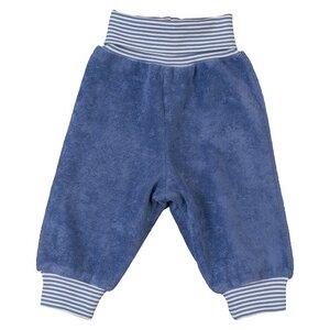 Baby Frottee Hose blau Bio Baumwolle - People Wear Organic