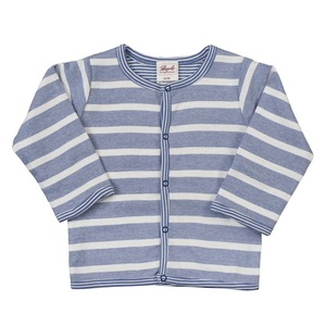 Baby Wendejacke blau/geringelt Bio Baumwolle - People Wear Organic