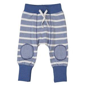Baby Hose blau/gestreift Bio Baumwolle - People Wear Organic