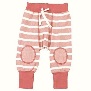 Baby Hose koralle/gestreift Bio Baumwolle - People Wear Organic