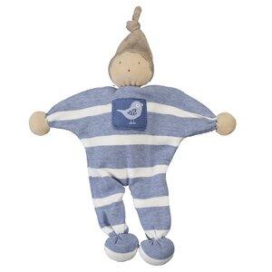 Püppchen - Manderl blau/geringelt 23cm Bio Baumwolle - People Wear Organic