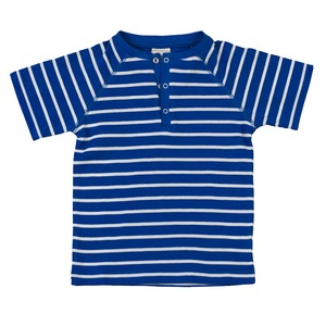 Kinder Raglanshirt blau/geringelt Bio Baumwolle - People Wear Organic