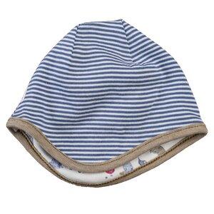 Baby u. Kinder Wendemütze blau/geringelt Bio Baumwolle - People Wear Organic
