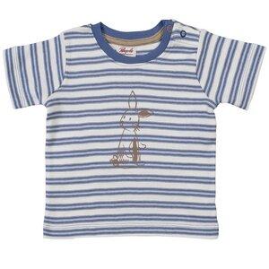Baby u. Kinder Kurzarmshirt blau/geringelt ökologisch - People Wear Organic