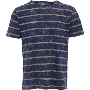 Yarndyed Striped Indigo T-Shirt - KnowledgeCotton Apparel