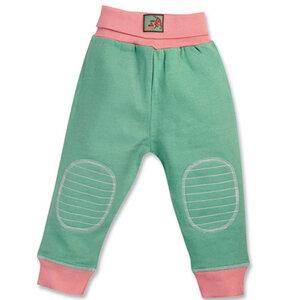 Babyhose mint/grün mit Nabelbund, kbA - Cotton People Organic
