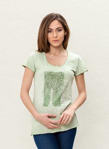 Damen Dyed T-Shirt 'Spring Green'  - ORGANICATION