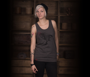 "Bidges&Sons ""Soaring Bird"" Unisex Tanktop, dark heather grey - Bidges&Sons"