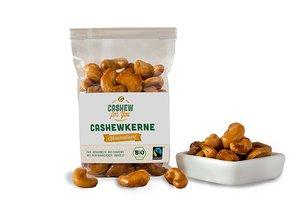 Karamellisierte Bio-Fairtrade-Cashewkerne von der Elfenbeinküste (4 x 75g) - Cashew for You