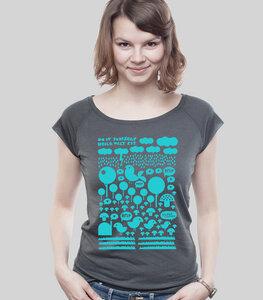 Bamboo Raglan Shirt Women Charcoal 'Heile Welt' - SILBERFISCHER